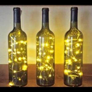 Lot of 3 Strands of Battery-Op Wine Bottle Lights